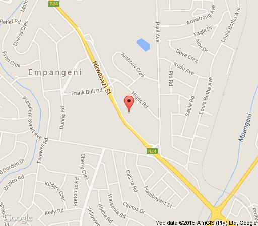 Map Babbling Brook in Empangeni  Zululand  KwaZulu Natal  South Africa