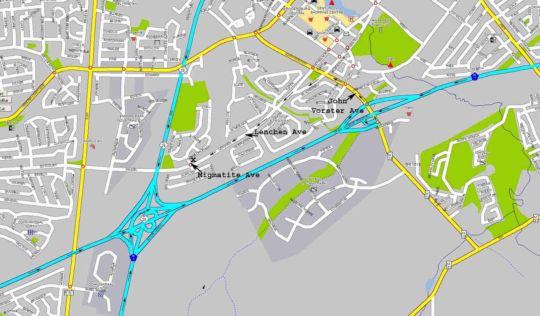 Map Das Kleine Wunder B&B in Centurion Central  Centurion  Pretoria / Tshwane  Gauteng  South Africa