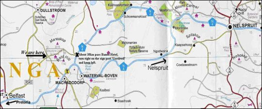 Map Greystone Lodge in Belfast  Highlands  Mpumalanga  South Africa