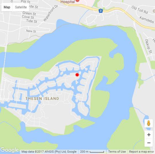 Map Thesen islands in Knysna  Garden Route  Western Cape  South Africa