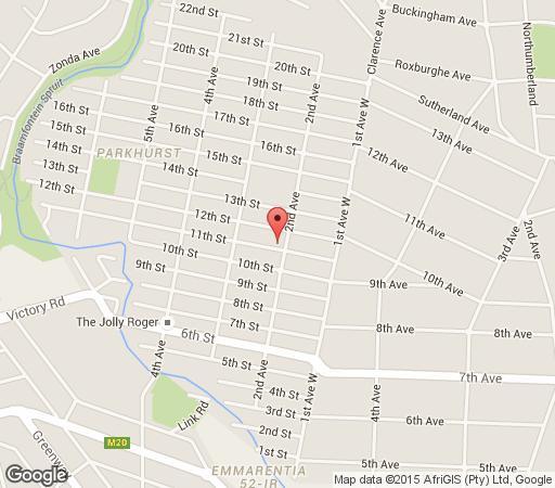 Map Hlala Panzi in Parkhurst  Northcliff/Rosebank  Johannesburg  Gauteng  South Africa