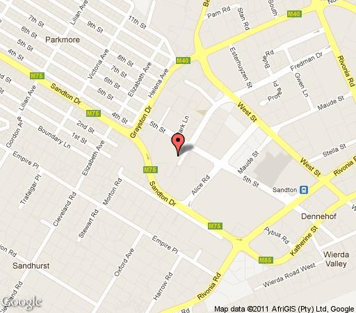 Map Sandhurst Towers Executive Suites in Sandhurst  Sandton  Johannesburg  Gauteng  South Africa
