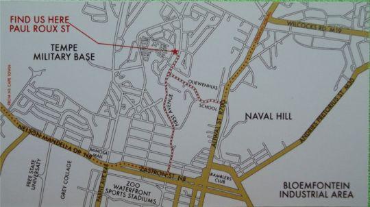 Map Deja Vu Guesthouse in Bloemfontein  Mangaung  Free State  South Africa