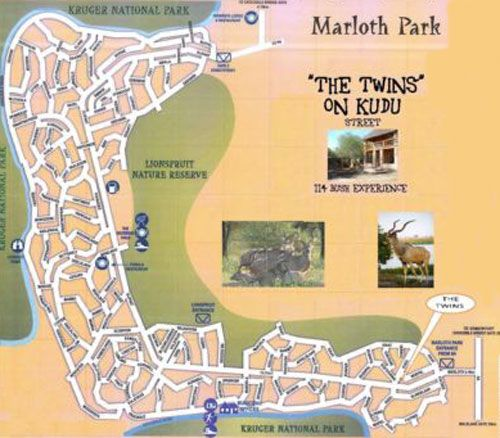 Map 114 Kudu Lodge in Marloth Park  Kruger National Park (MP)  Mpumalanga  South Africa
