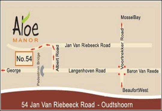 Map Aloe Manor  in Oudtshoorn  Klein Karoo  Western Cape  South Africa