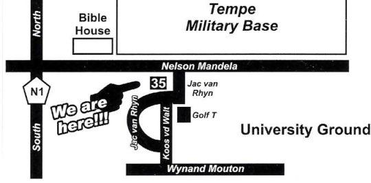 Map Bakgat Oornag in Bloemfontein  Mangaung  Free State  South Africa