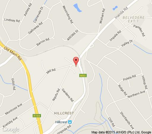 Map Fawncastle in Hillcrest  Western Suburbs (DBN)  Durban and Surrounds  KwaZulu Natal  Afrique du Sud