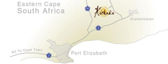 Map Kichaka Lodge in Grahamstown  Cacadu (Sarah Baartman)  Eastern Cape  South Africa