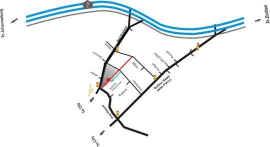 Map Thembelihle  in Scottsville  Pietermaritzburg  Midlands  KwaZulu Natal  South Africa