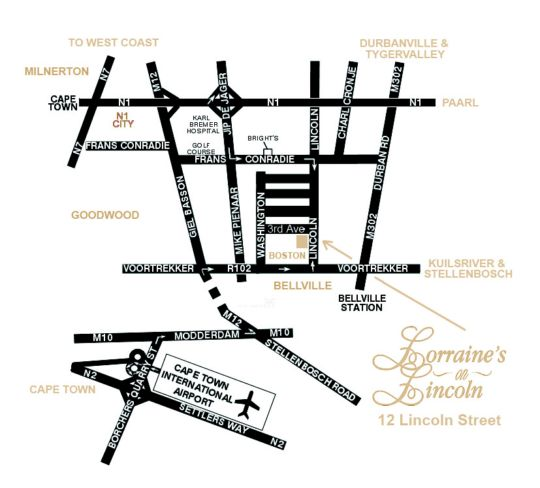 Map The Boston Guest House in Bellville  Northern Suburbs (CPT)  Cape Town  Western Cape  South Africa