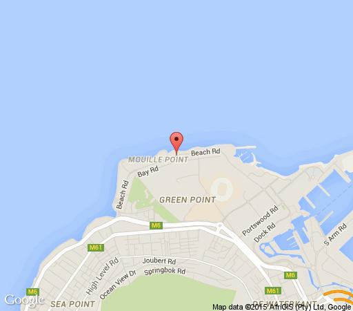Map Adenium Beachfront Apartment in Mouille Point  Atlantic Seaboard  Cape Town  Western Cape  South Africa