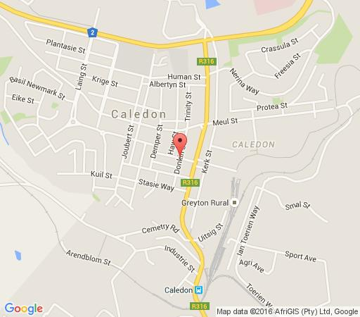 Map Athenian Villa in Caledon  Overberg  Western Cape  South Africa