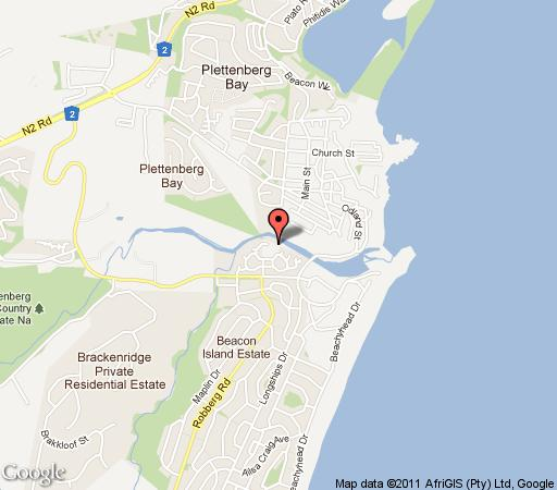 Map Alkantmooi Self Catering in Plettenberg Bay  Garden Route  Western Cape  South Africa