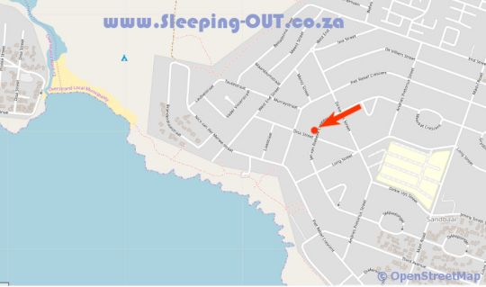 Map Pepper Tree Cottage in Hermanus  Overberg  Western Cape  Suid-Afrika