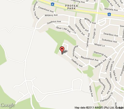 Map @ Home Guesthouse in Rustenburg  Bojanala  North West  South Africa
