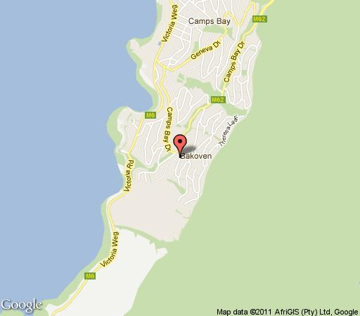 Map Bateleurs Rontree in Camps Bay  Atlantic Seaboard  Cape Town  Western Cape  South Africa