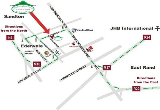 Map Jax Place Guest House in Edenvale  Ekurhuleni (East Rand)  Gauteng  Afrique du Sud