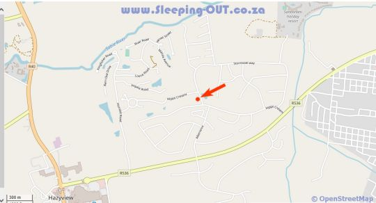 Map Tatenda Guest House in Hazyview  The Panorama  Mpumalanga  Suid-Afrika