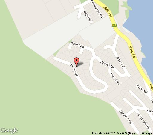 Map Avian Leisure in Simon's Town  False Bay  Cape Town  Western Cape  South Africa