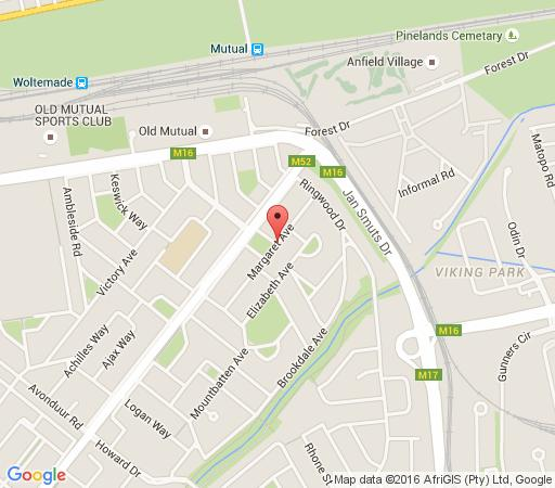 Map Bradclin House, Pinelands in Pinelands  Southern Suburbs (CPT)  Cape Town  Western Cape  South Africa