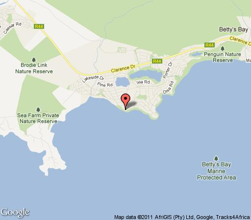 Map La Cachette B&B in Betty's Bay  Overberg  Western Cape  South Africa