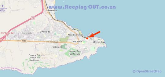 Map Gouriqua Luxury Apartments Mossel Bay in Mossel Bay  Garden Route  Western Cape  South Africa