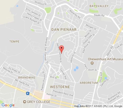 Map Valentina Bloemfontein in Bloemfontein  Mangaung  Free State  South Africa