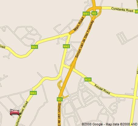 Map Nova Constantia Boutique Residence in Constantia (CPT)  Southern Suburbs (CPT)  Cape Town  Western Cape  South Africa