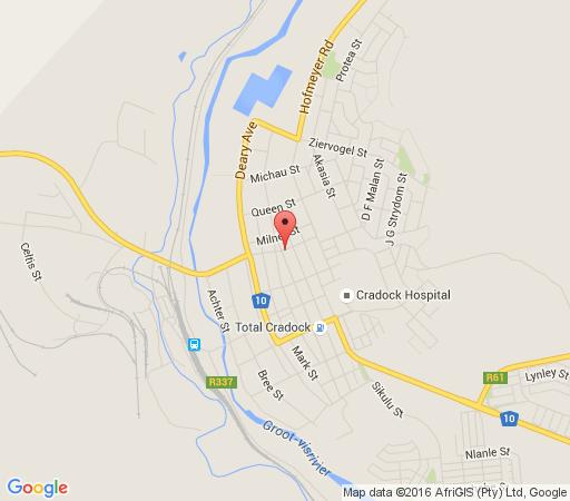 Map Amali Guest Houses in Cradock  Stormberg District  Eastern Cape  South Africa