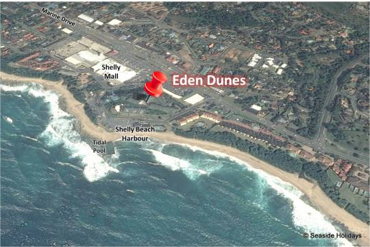 Map Eden Dunes in Shelly Beach  South Coast (KZN)  KwaZulu Natal  Suid-Afrika