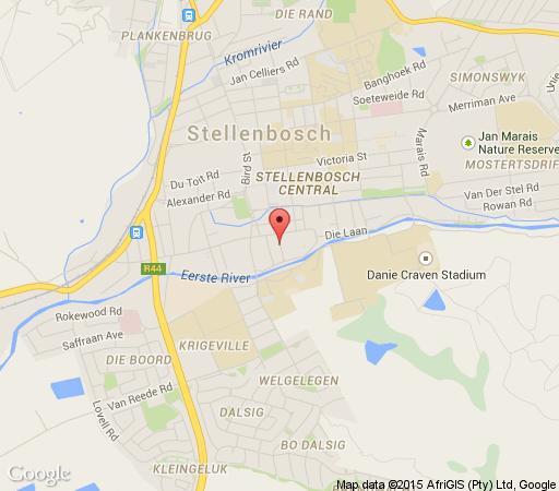 Map Just Joey  in Stellenbosch  Cape Winelands  Western Cape  South Africa