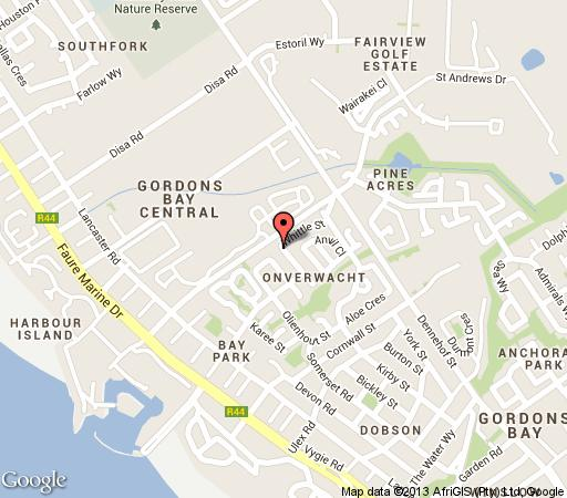 Map House of Pearls in Gordon's Bay  Helderberg  Western Cape  South Africa