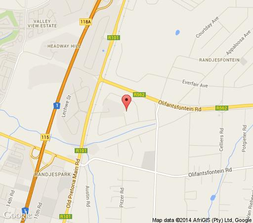 Map Ipe Tombe Guest Lodge in Randjespark  Midrand  Johannesburg  Gauteng  South Africa