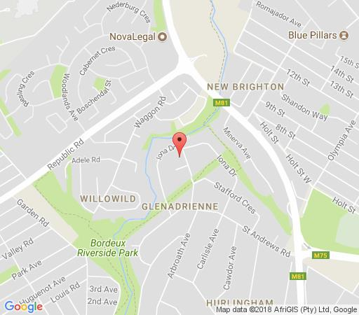 Map Red Rose Bed and Breakfast in Sandton Central  Sandton  Johannesburg  Gauteng  South Africa