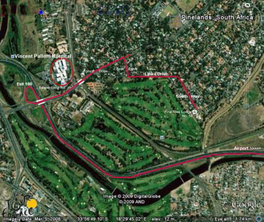 Map Pine Tree Lodge in Pinelands  Southern Suburbs (CPT)  Cape Town  Western Cape  South Africa
