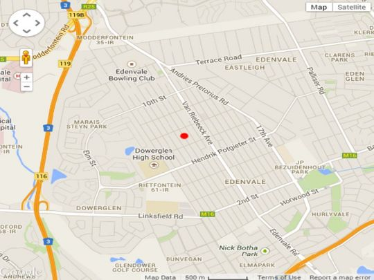Map Eden Garden in Edenvale  Ekurhuleni (East Rand)  Gauteng  South Africa