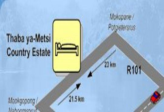 Map Thaba ya-Metsi Guest House in Mookgopong (Naboomspruit)  Bushveld  Limpopo  South Africa