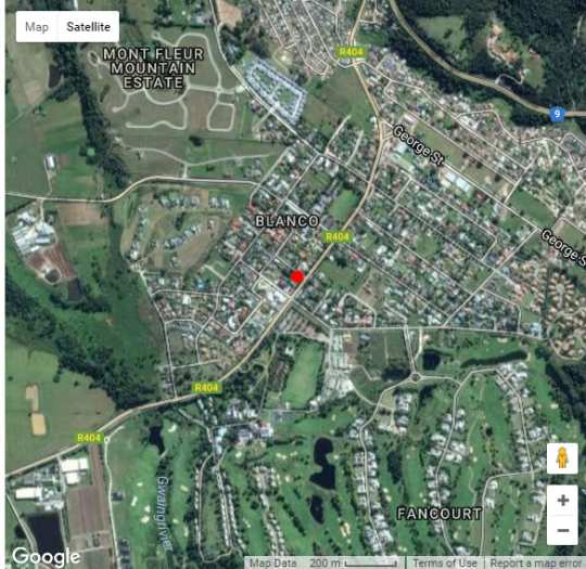 Map Outeniqua Travel Lodge in George  Garden Route  Western Cape  South Africa