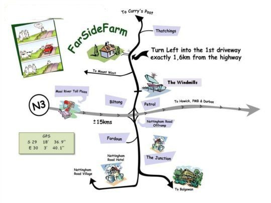 Map The Farside Farm in Nottingham Road  Midlands  KwaZulu Natal  South Africa