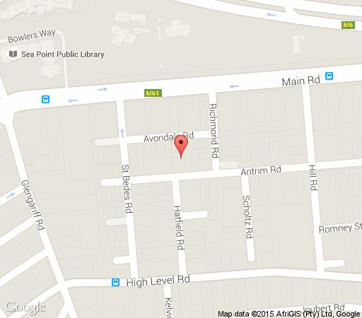 Map The One 8 Hotel in Green Point  Atlantic Seaboard  Cape Town  Western Cape  South Africa