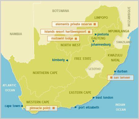 Map San Lameer - Villa La Mer in San Lameer  South Coast (KZN)  KwaZulu Natal  South Africa