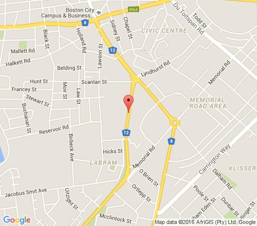 Map Bishops Lodge in Kimberley  Diamond Fields  Northern Cape  South Africa
