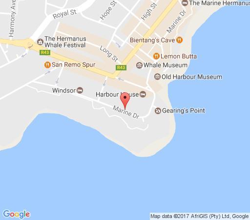Map Hermanus Esplanade in Hermanus  Overberg  Western Cape  South Africa