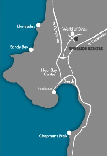 Map Riverside Estates in Hout Bay  Atlantic Seaboard  Cape Town  Western Cape  South Africa