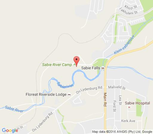Map Sabie River Camp in Sabie River Valley  The Panorama  Mpumalanga  South Africa