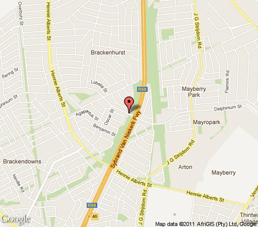 Map KgalaKgadi Rest in Brackenhurst  Alberton  Ekurhuleni (East Rand)  Gauteng  South Africa