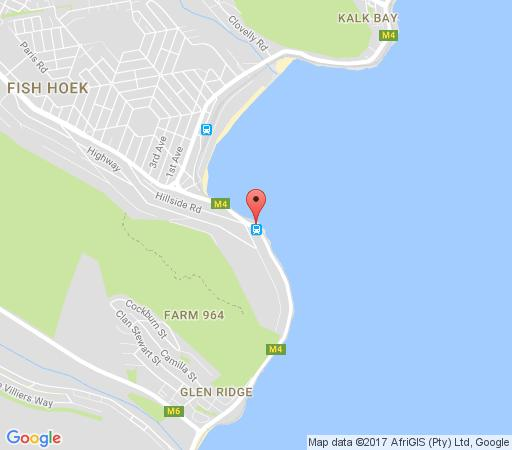 Map The Upper Deck  in Fish Hoek  False Bay  Cape Town  Western Cape  South Africa