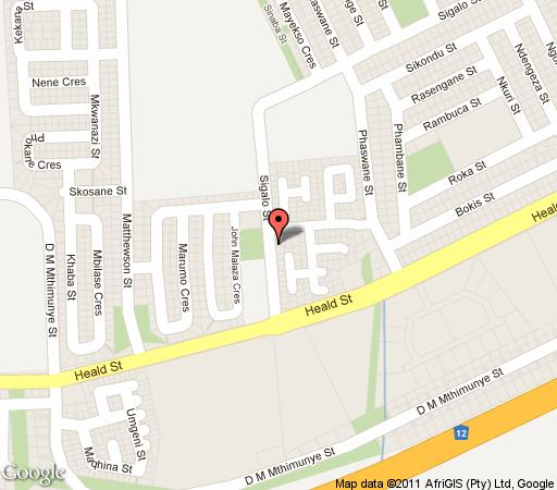 Map Lapeng Guesthouse in Benoni  Ekurhuleni (East Rand)  Gauteng  South Africa