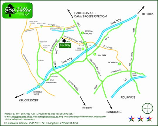 Map Pine Valley in Muldersdrift  West Rand  Gauteng  South Africa