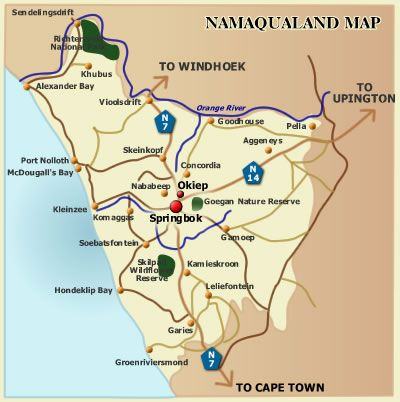 Map Okiep Country Hotel in Okiep  Namakwaland  Northern Cape  South Africa